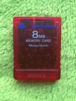Playstation 2 PS2 - Memory Card transparent rot 8MB ORIGINAL Sony