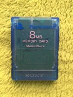 Playstation 2 PS2 - Memory Card transparent blau 8MB ORIGINAL Sony